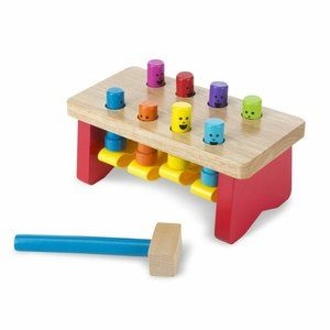 Melissa & Doug Deluxe Pounding Bench Wooden Toy Wi